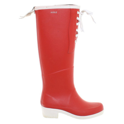 Aigle Red rubber boots