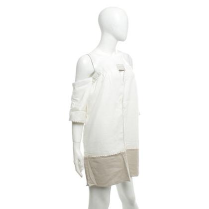 ViX Paula Hermanny Off-shoulder dress in beige / nature