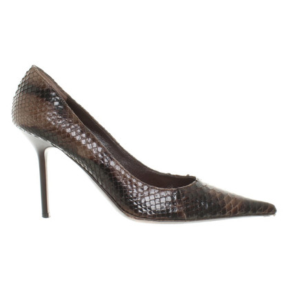 Gianmarco Lorenzi pumps pelle di serpente