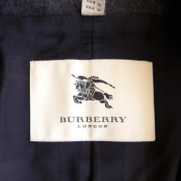 Burberry Peplum blazer jacket in dark gray