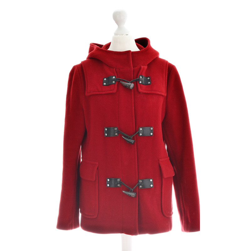 Burberry Red Duffle coat