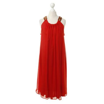 Lanvin Red dress with jewel trim