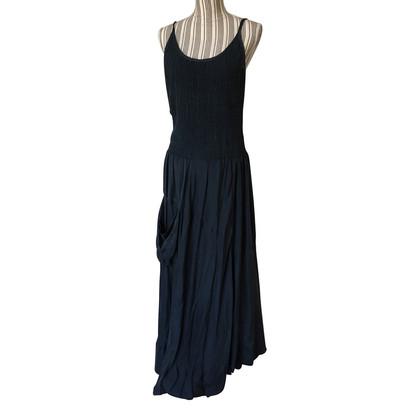 DKNY Blue silk long dress