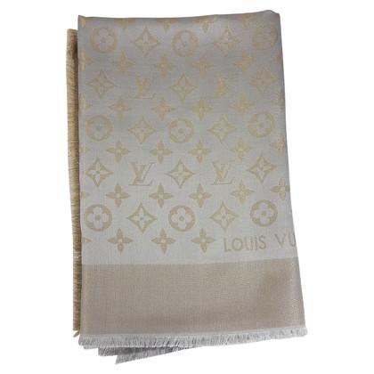 Louis Vuitton Louis Vuitton Monogram Stole Beige Lurex