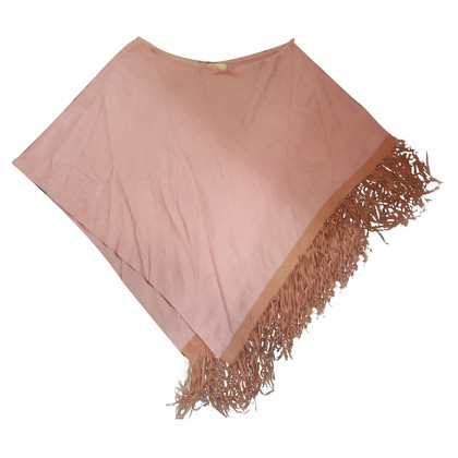 Schumacher Poncho with leather fringes