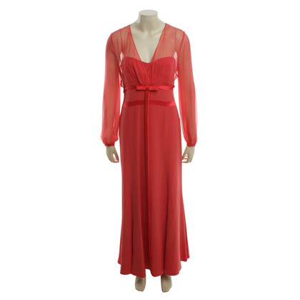 Rena Lange Floor length evening dress in red