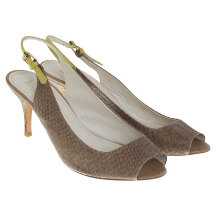 Schumacher Slingback-Peeptoes in Khaki