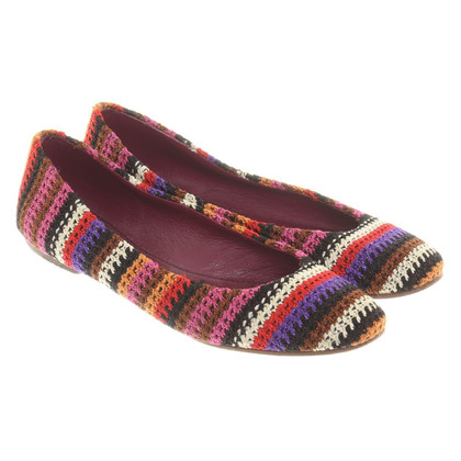 Missoni Ballerinas with crochet pattern