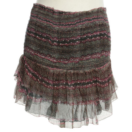 Isabel Marant Etoile Mini skirt with colorful patterns