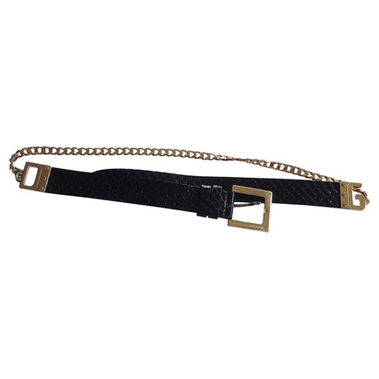 Dolce & Gabbana Python leather and chain belt