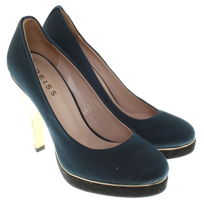 Reiss pumps in donkerblauw