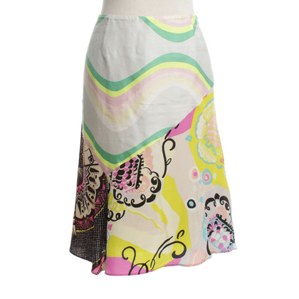 Christian Lacroix Silk skirt with print