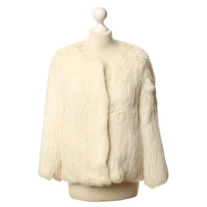 IQ Berlin Giacca di pelliccia bianca
