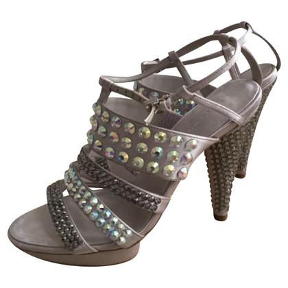 Karen Millen Beige, met Swarovski versierde sandalen