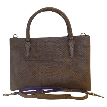 Coach Handbag with reptile embossing