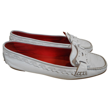 Tod's Loafer in leer in het wit
