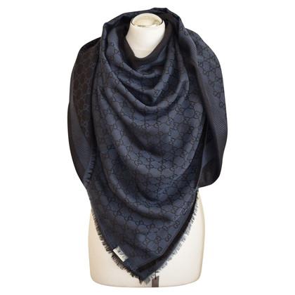 Gucci scarf gucci. blue-caffè new