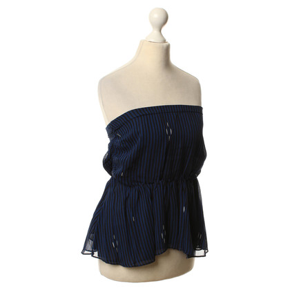 Isabel Marant Top a righe blu/nero