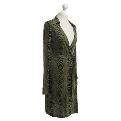 Diane von Furstenberg Wrap dress in olive green