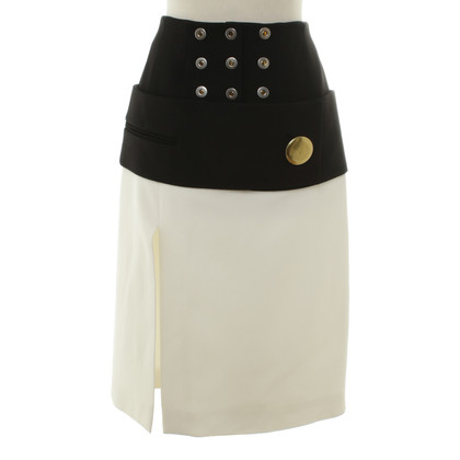 Balenciaga skirt in black and white