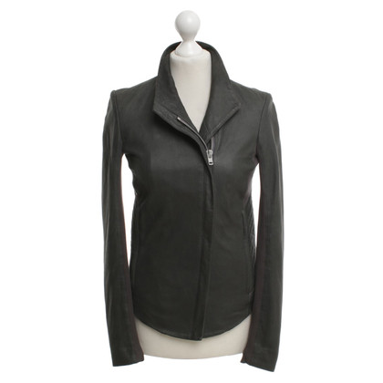 Helmut Lang Leather jacket in dark gray