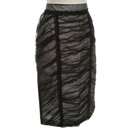 D&G Multi-layered skirt in black and white