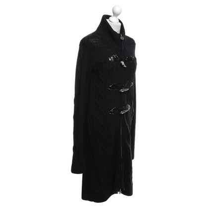 Tory Burch cappotto di maglia in nero