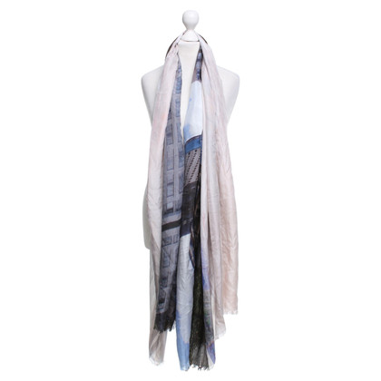 Closed Scarf with photo motive