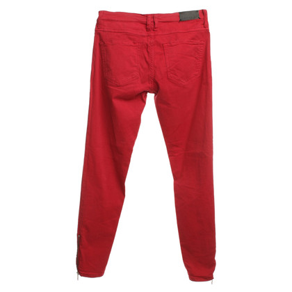 Sandro 7/8 trousers in red