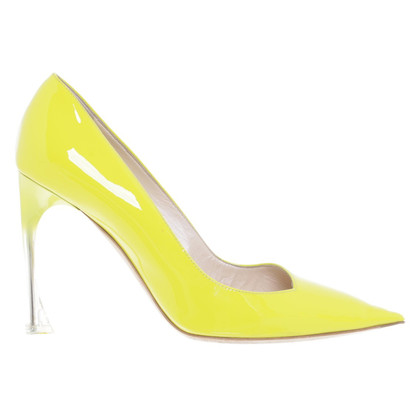 Christian Dior Patent Leather pumps in Neon Yellow