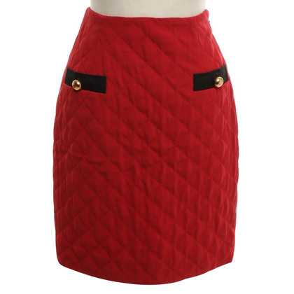 Moschino Quilted mini-skirt in red