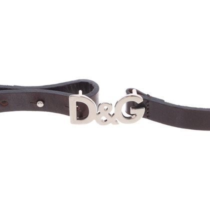 Dolce & Gabbana Slim leather belt