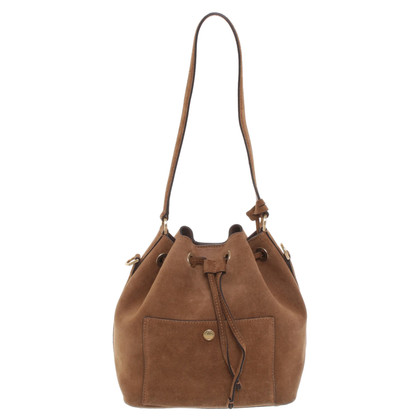"Michael Kors ""Greenwich MD secchio Bag camoscio scuro caramello"""