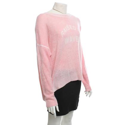 360 Sweater maglioni di cachemire in rosa / crema