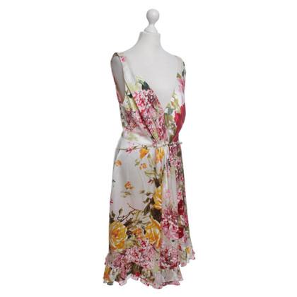 Roberto Cavalli Seidenkleid mit Blumenmuster