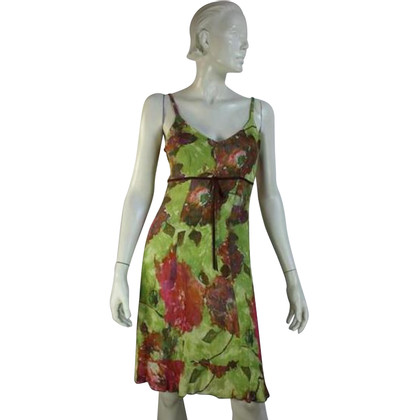 Luisa Cerano Green silk dress