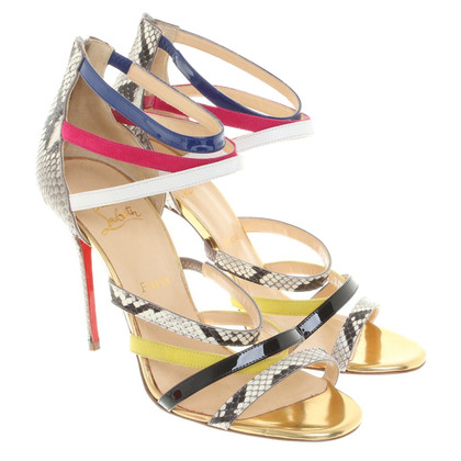 Christian Louboutin Sandals made of colorful leather straps