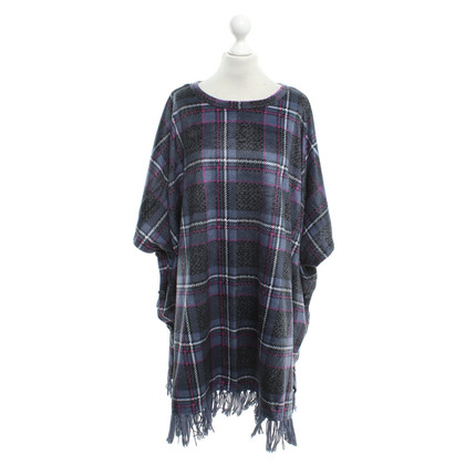 DKNY Checkered poncho