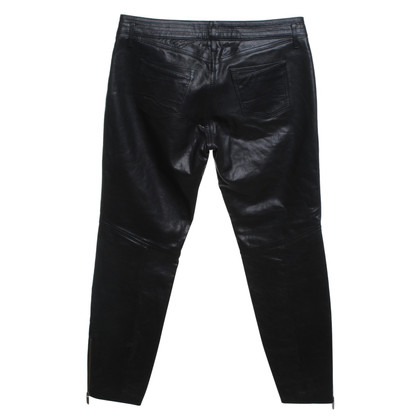 Boss Orange Leather pants in black