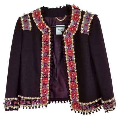 Moschino Jacket with pearls & sequins