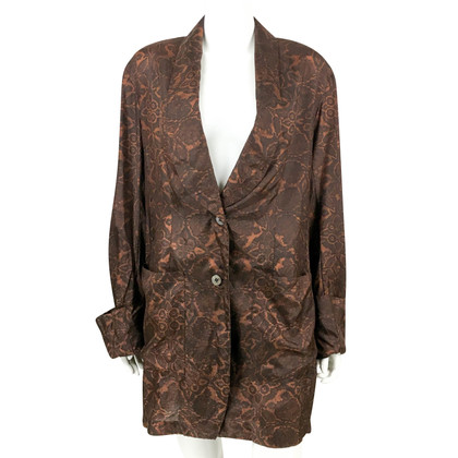 Dries van Noten Gedrukt Silk Oversized Jacket / Shirt