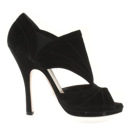 Prada Peeptoes in black