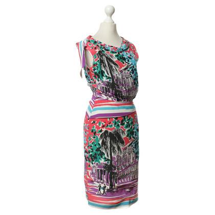 Alberta Ferretti Scenic print silk dress