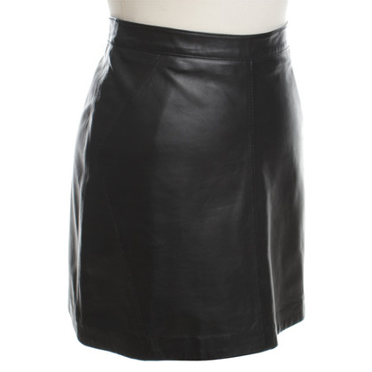 Oakwood Lederen mini rok