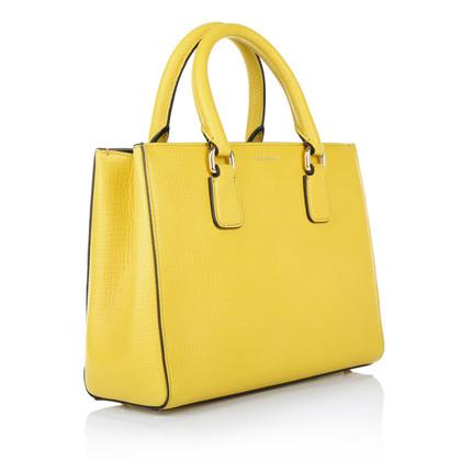 """Dolce & Gabbana """"Clara Leather Bag"""" in giallo"""