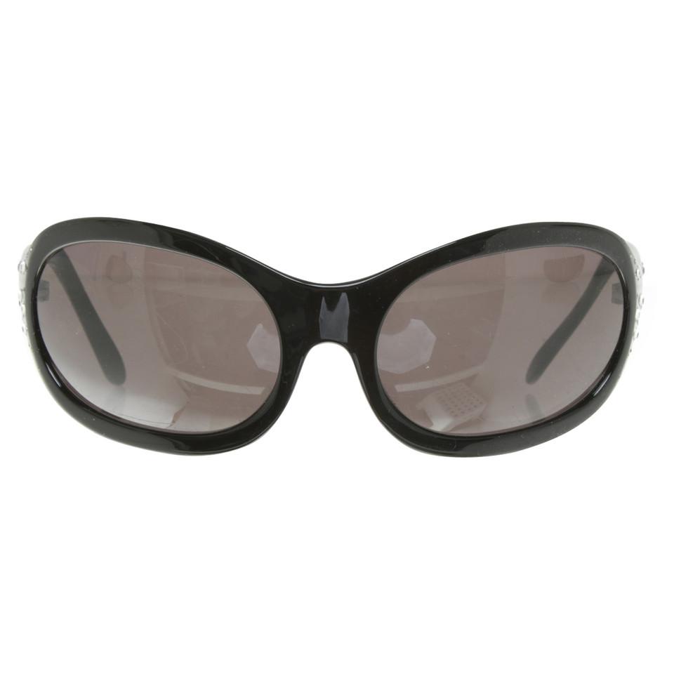 versace sonnenbrille in schwarz second hand versace. Black Bedroom Furniture Sets. Home Design Ideas