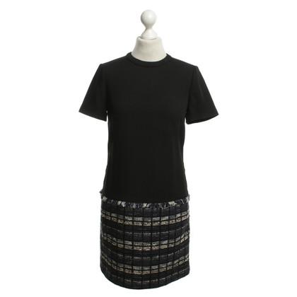 Proenza Schouler Bouclé-Kleid in Schwarz