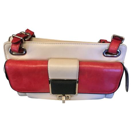 Liefern Billig Verkaufen Gefälschte Balenciaga Schultertasche in Bicolor Creme Footlocker Abbildungen Günstigen Preis 86jN4h