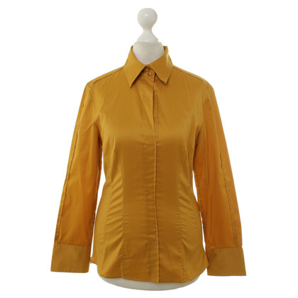 Hugo Boss Blouse in Curry geel
