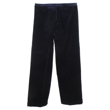 Max & Co Velvet trousers in dark blue